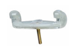 Viva white replacement feet for Viva shoulder rests. Medium 18mm.