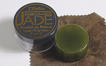 Jade rosin for violin, viola, & cello