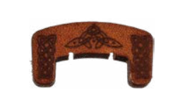 Leather violin mute with celtic knot