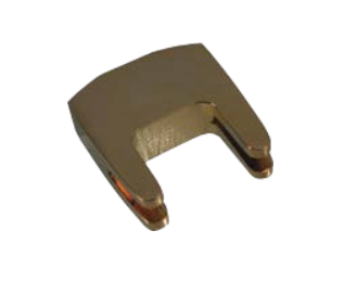 Gold-plated, 2-prong heavy practice cello mute