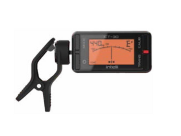 Intelli clip-on black chromatic tuner with backlight