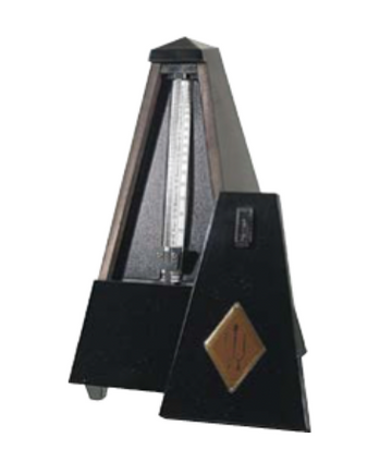 Malzel Wood, black high-gloss finish metronome without bell