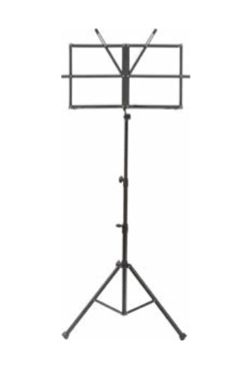 Black collapsible music stand w/ carrying bag
