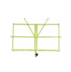 Green collapsible music stand w/ carrying bag