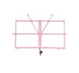 Pink collapsible music stand w/ carrying bag