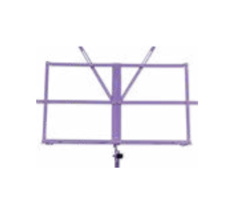 Purple collapsible music stand w/ carrying bag