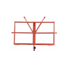 Red collapsible music stand w/ carrying bag