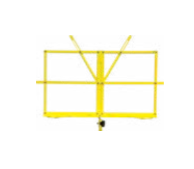 Yellow collapsible music stand w/ carrying bag