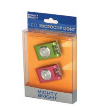 Mighty Bright Blue and silver Micro-Light Microclip 2-Pack