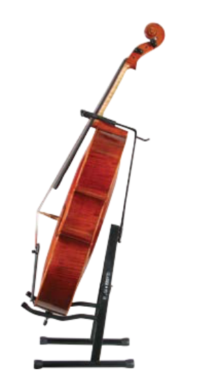 Cello collapsible display stand with bowholder