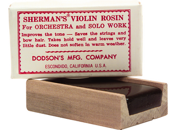 Sherman violin, light rosin