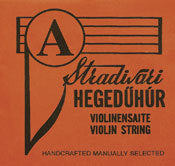 Economy Strad stainless steel wound violin D string. 4/4 scale. Light tension.