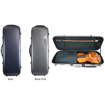 West Coast Strings Polycarbonate Brush-finished Oblong Viola case