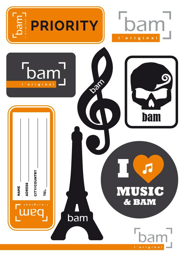 BAM stickers classic collection