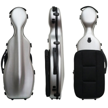 West Coast Strings Polycarbonate Brush-finished Cello-shaped Violin case