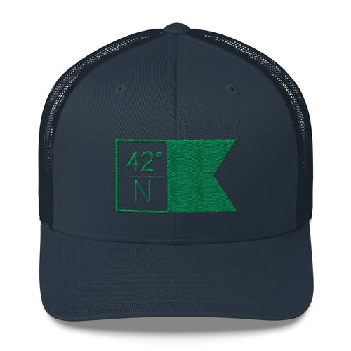 High School Hats - Navy & Green Flagship Trucker