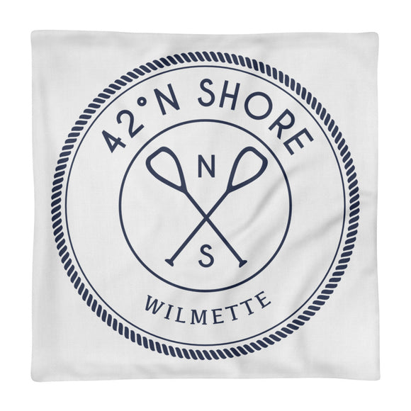 Hometown Throw Pillow - Wilmette