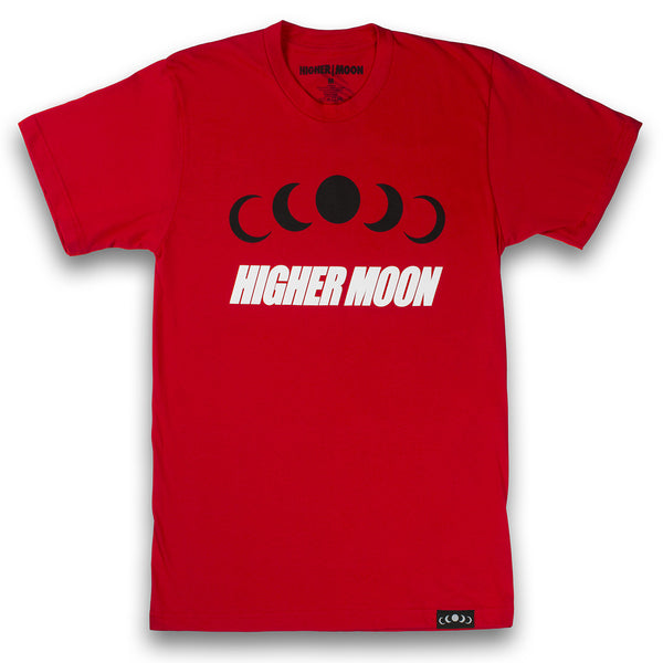 Phases Tee in Red