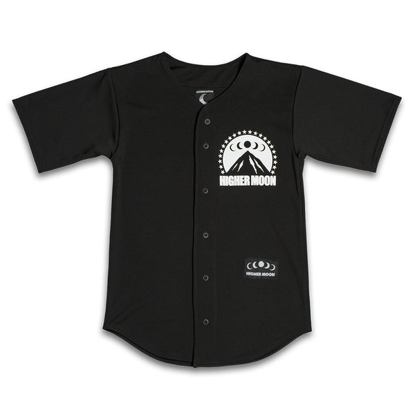 Ice Moon Baseball Jersey in Black