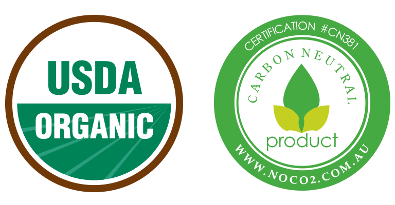 Organic Grass-fed Beef Broth Bones non-gmo project verified usda organic carbon neutral animal welfare Certifications