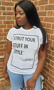 Sedistyles Slogan Fitted Tshirt - White