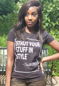 Sedistyles Slogan Fitted Tshirt - Black