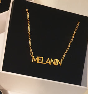 "Gold ""MELANIN"" Necklace"