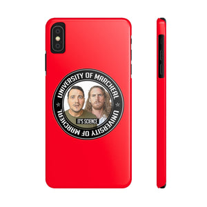 PHONE CASE - RED (iPhone X, 5 and Samsung S9, S5)