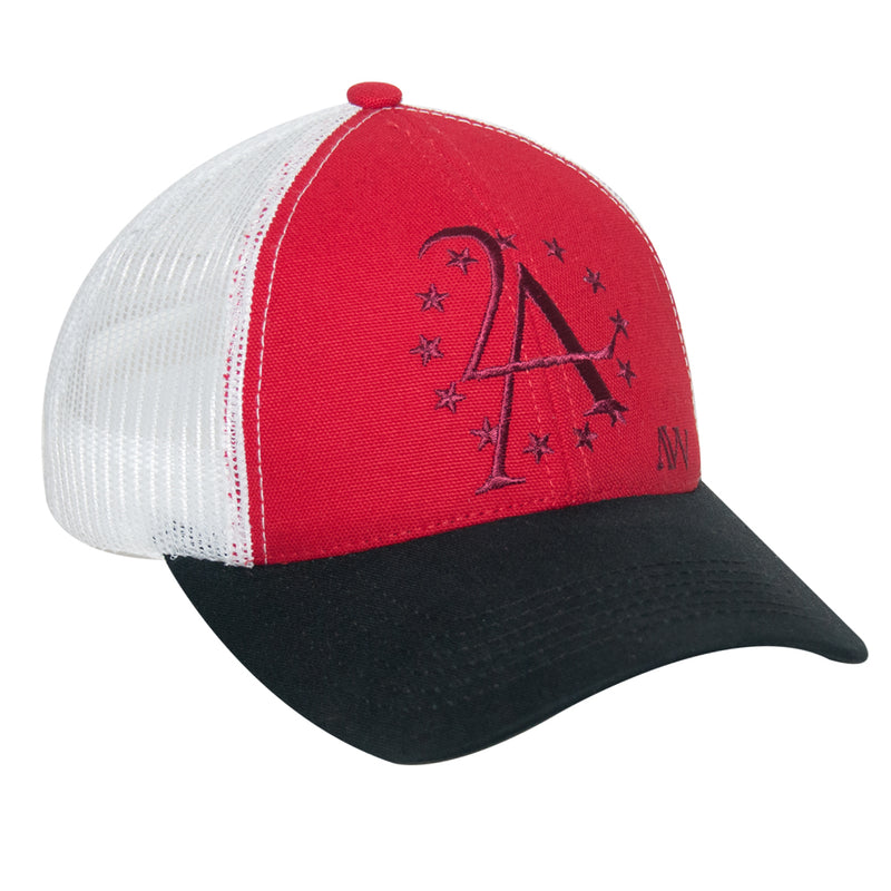 US Flag Baseball Cap w AW Logo - Black