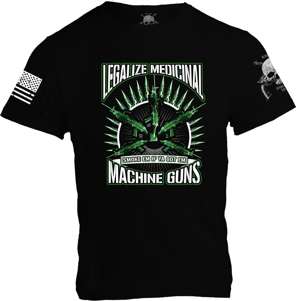 Legalize Medicinal Machine Guns - Black - Mens PREORDER ONLY