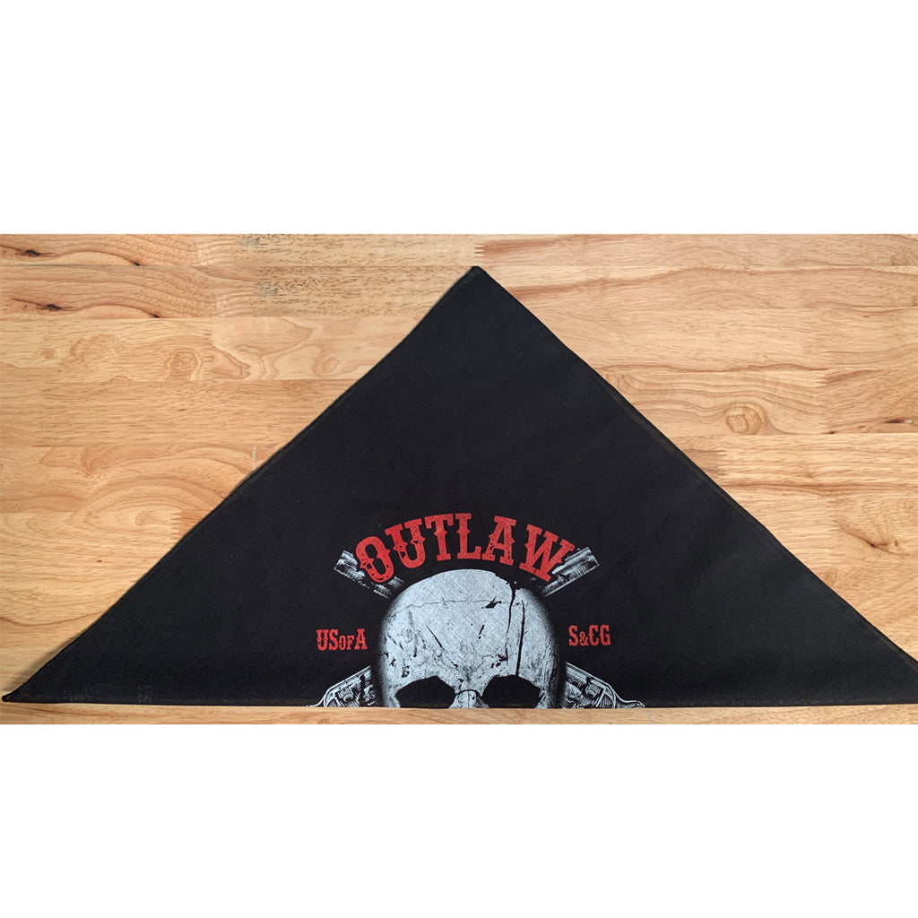 Outlaw Justice  Bandana / Face Cover - Black
