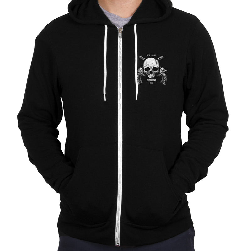 Outlaw Justice with Skull and Pistols - Black  - Hoodie