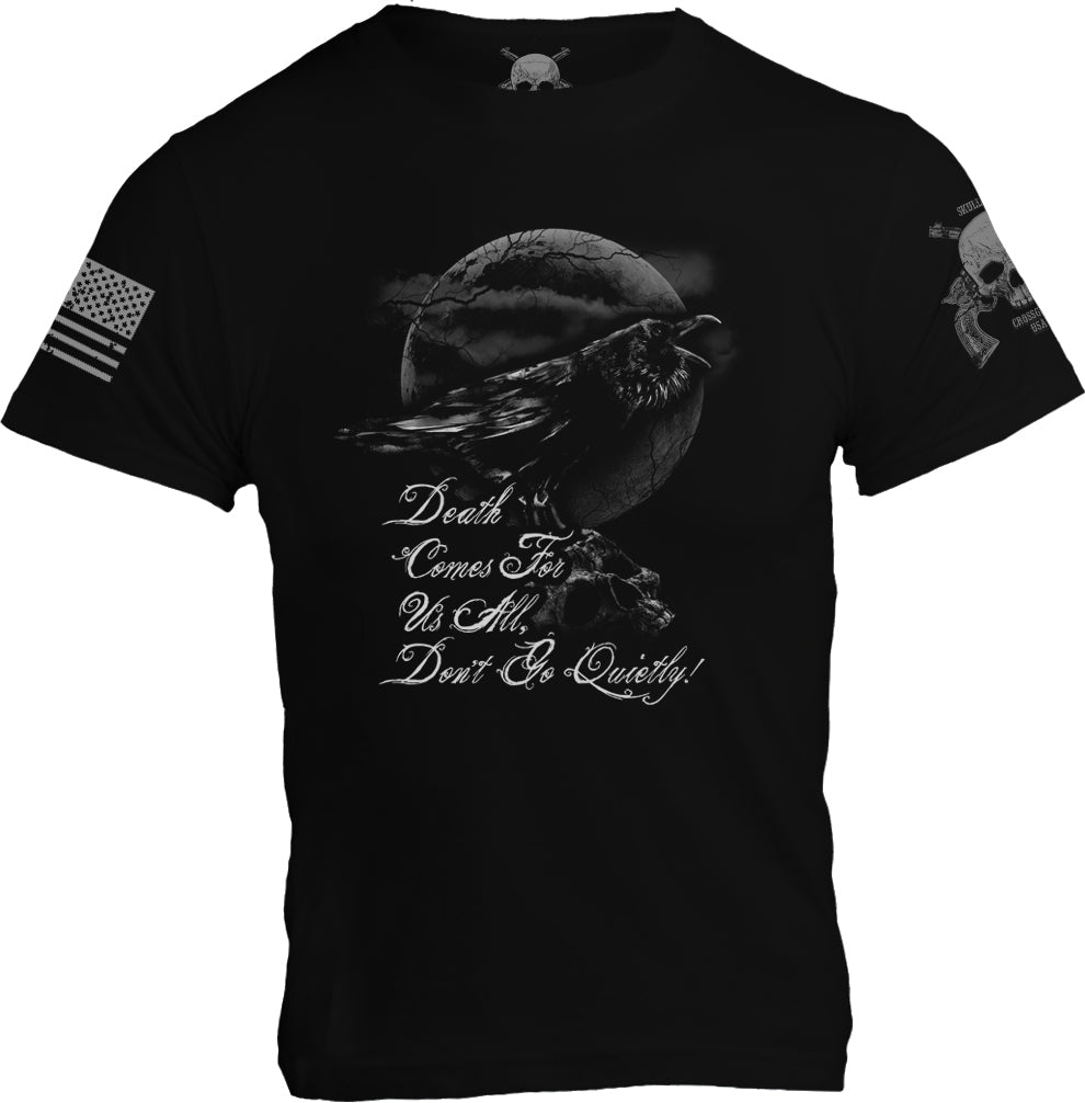 "Raven ""Death Comes For Us All"" T-Shirt - Black - Mens"