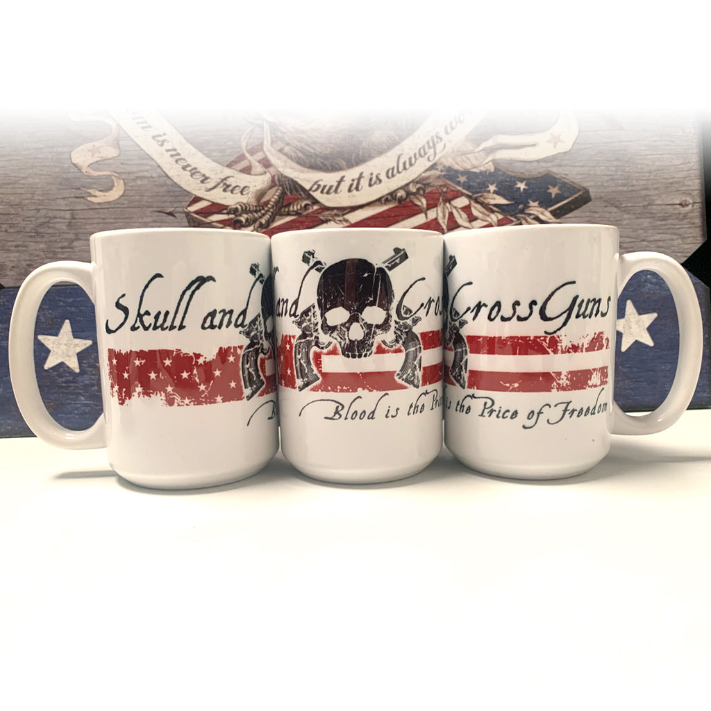 Blood is the Price of Freedom - 15 oz. Coffee Mug - White  (ceramic)