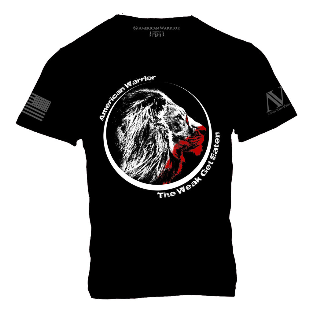 The Weak Get Eaten T-Shirt - Black