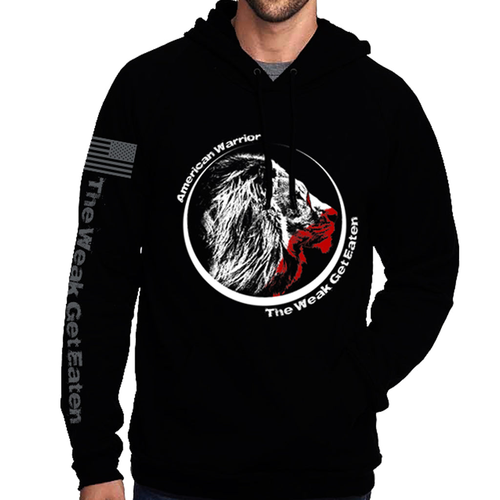 The Weak Get Eaten Pullover Hoodie - Black