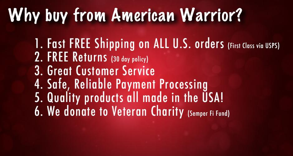 Why Buy from American Warrior?