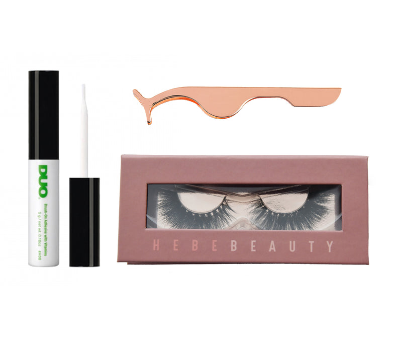 Single Lash, Duo Glue & Applicator Deal - HEBE