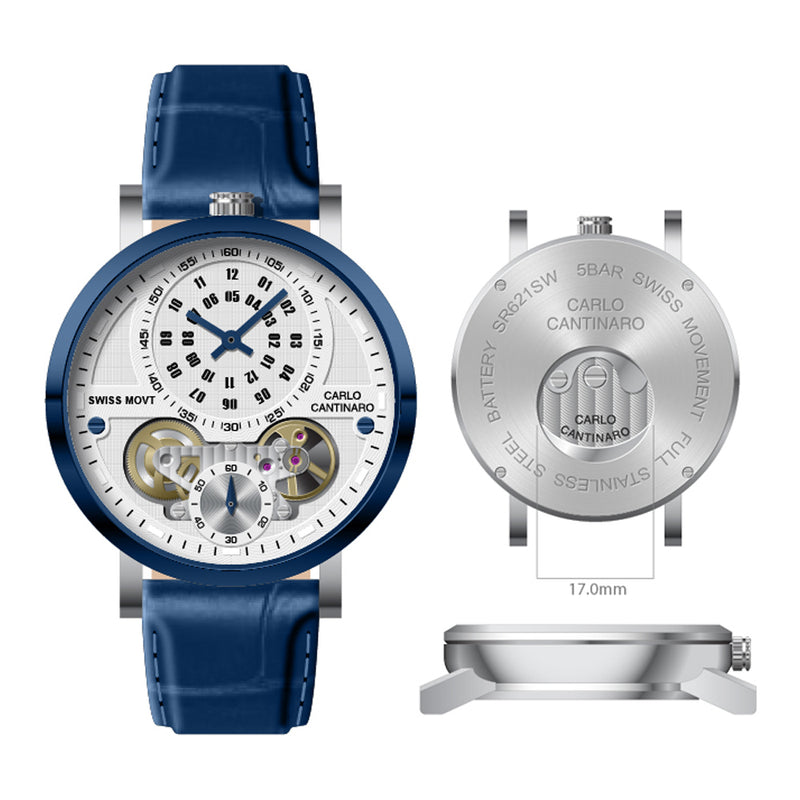 Carlo Cantinaro CC1004GL008 Herrenuhr Quartzmatic GMT