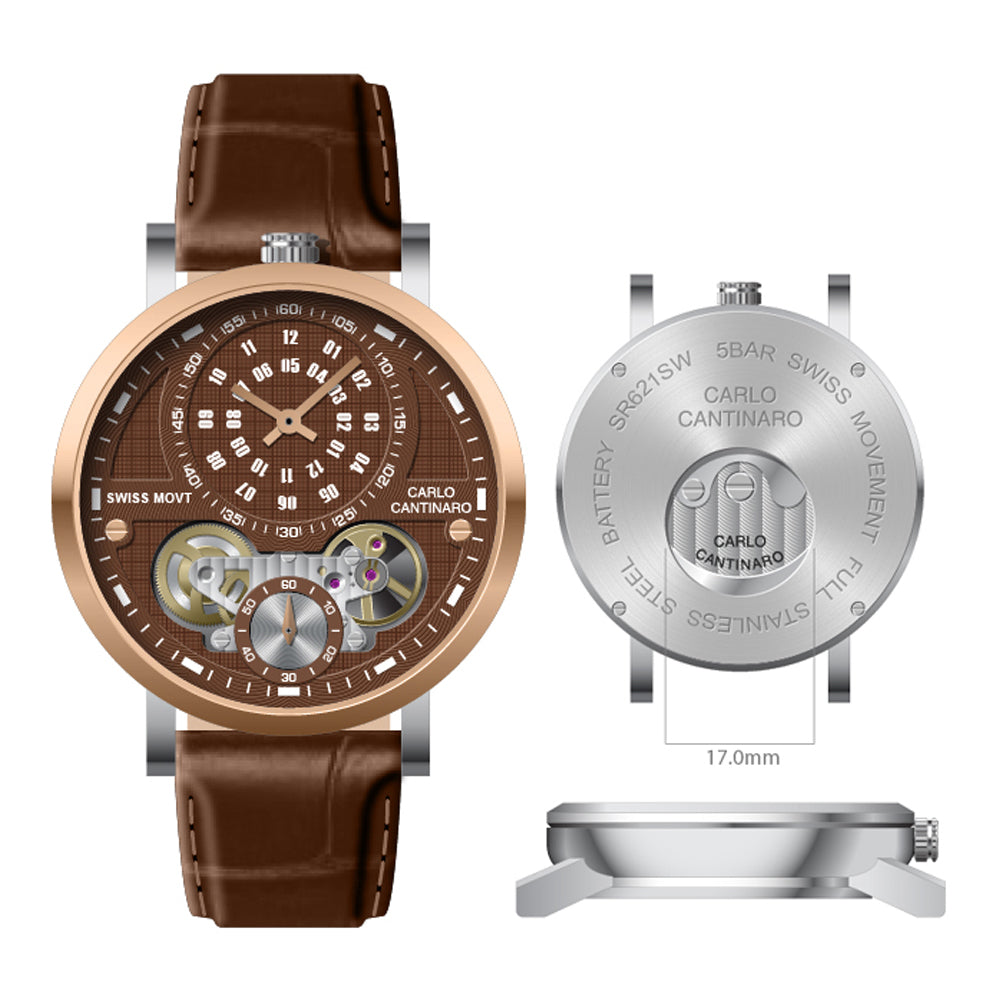 Carlo Cantinaro CC1004GL010 Herrenuhr Quartzmatic GMT