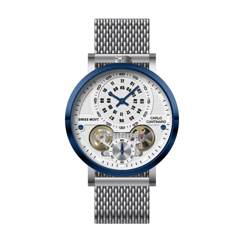 Carlo Cantinaro CC1004GM013 Herrenuhr Quartzmatic GMT