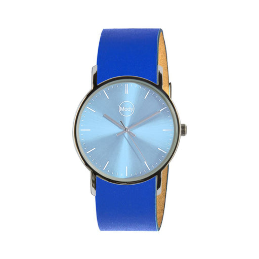 Mody Shinylightblue-Blue Damenuhr Herrenuhr