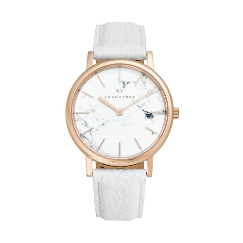 Sognatore Marble White Rose Gold Damenuhr / Herrenuhr