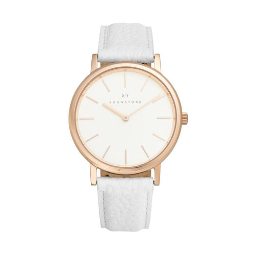 Sognatore Pure White Rose Gold Damenuhr / Herrenuhr