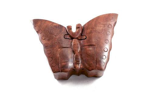 Wooden Puzzle Box - Butterfly