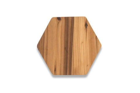 Cedar Wood Hex Serving Board - Small
