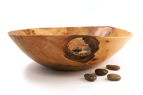 Hand Turned Spalted Maple Bowl - 300