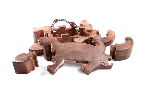 Wooden Puzzle Box - Gecko