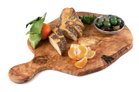 Olive Wood Round Artisan Serving Board