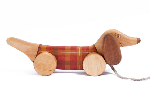 Sausage Dog Pull Toy